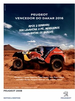 PEUGEOT - Vencedor do Dakar 2016
